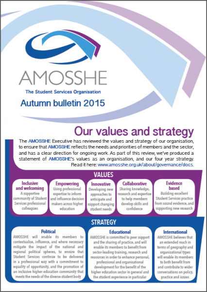 AMOSSHE bulletin autumn 2015 (opens in a new window)