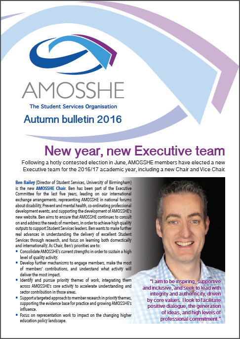 AMOSSHE bulletin autumn 2016 (opens in a new window)