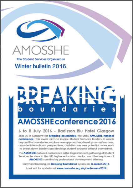 AMOSSHE bulletin winter 2016 (opens in a new window)