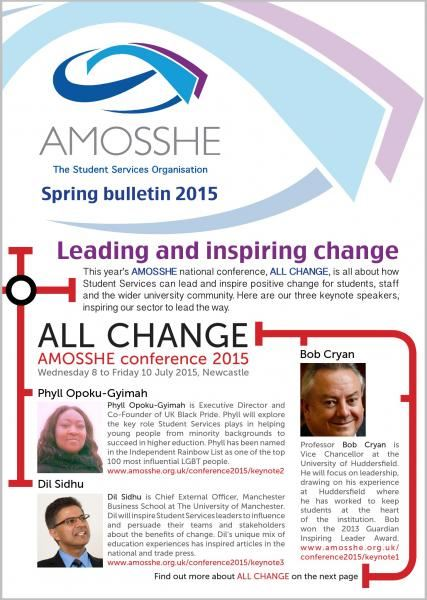 AMOSSHE bulletin spring 2015 (opens in a new window)