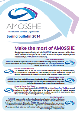 AMOSSHE bulletin spring 2014 (opens in a new window)